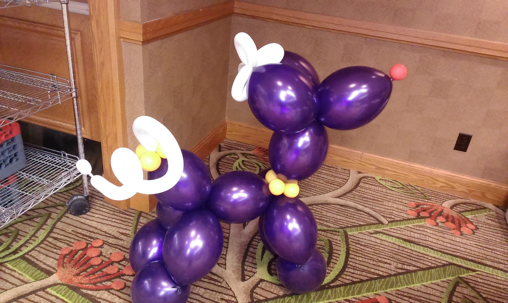 Exquisite balloon and floral decoration for Balloon decoration gallery